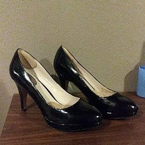 Nickels Black Patent Leather Heels 8